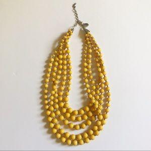 Golden Mustard Yellow Beaded Necklace